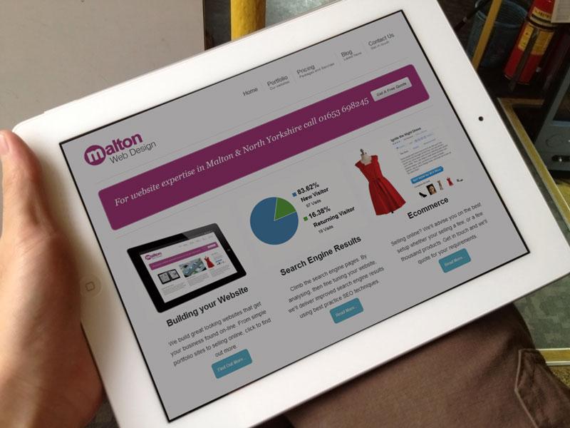 Malton Web Design Portfolio iPad