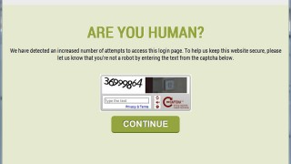 Wordpress login security screen